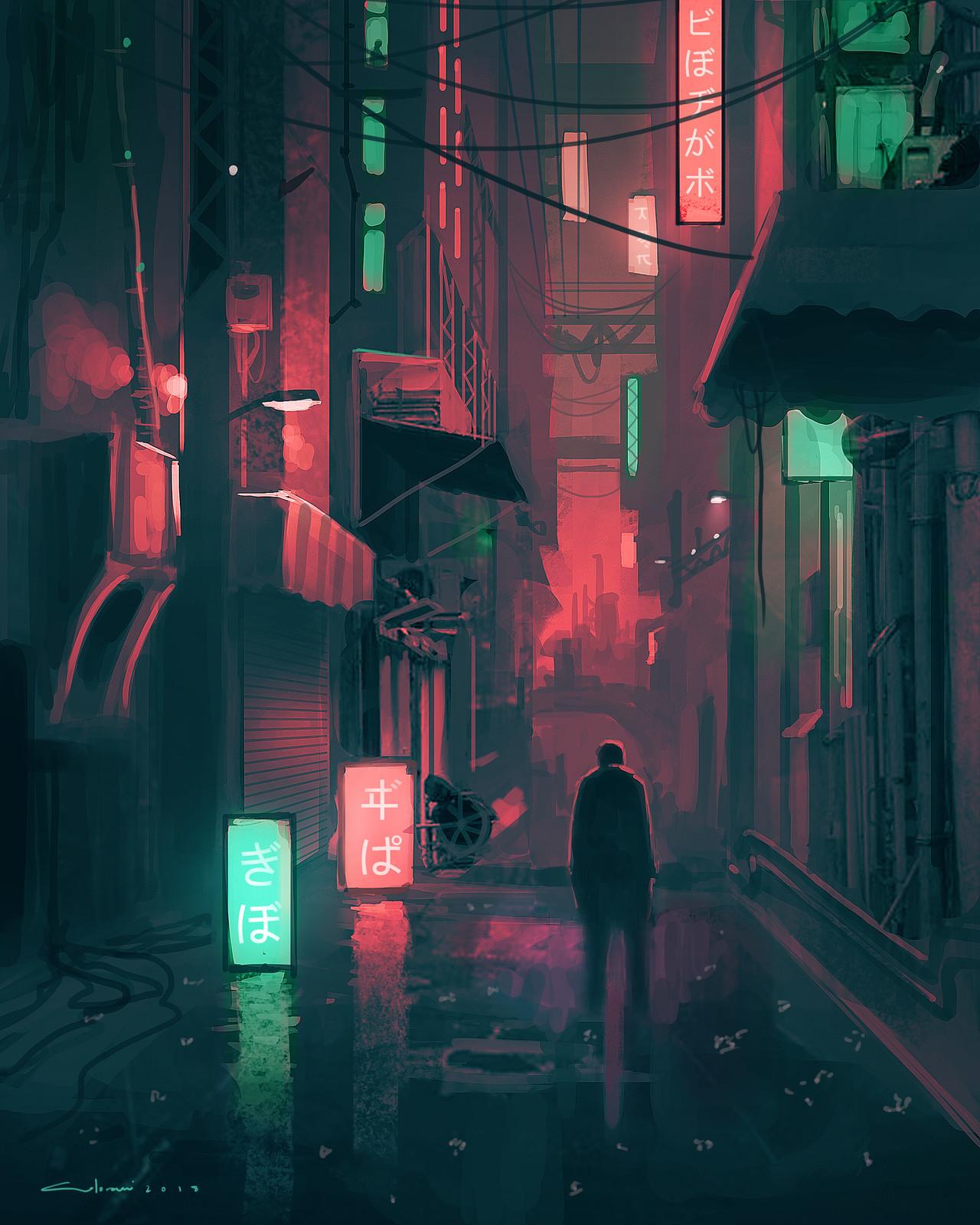 Alone in Shinjuku