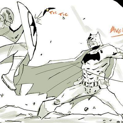 Gbenle maverick batman vs captain america