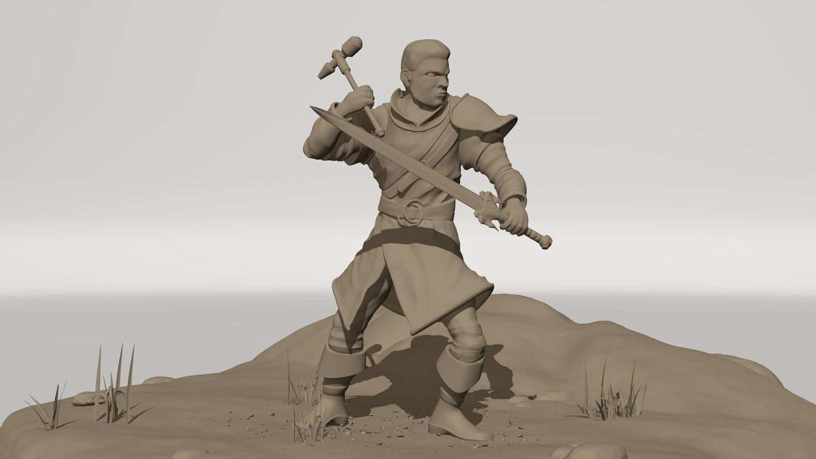 Cyrus Concept Sculpt