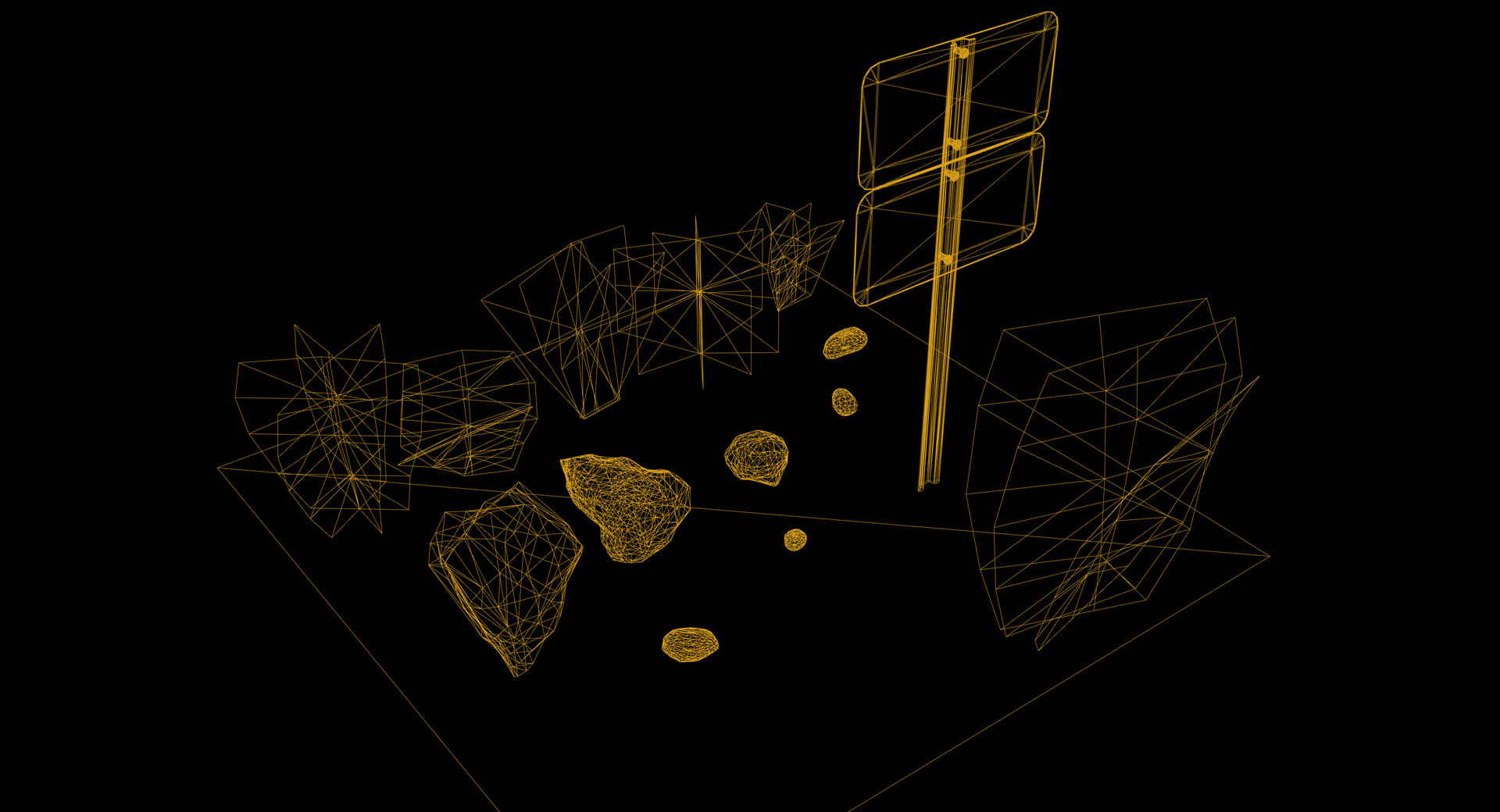 Chris qing qing zhao meshes wireframe