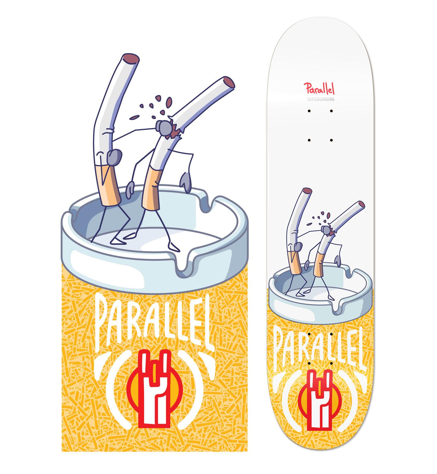 Illustration for skateboard company (Parallel Skateboarding) 2018