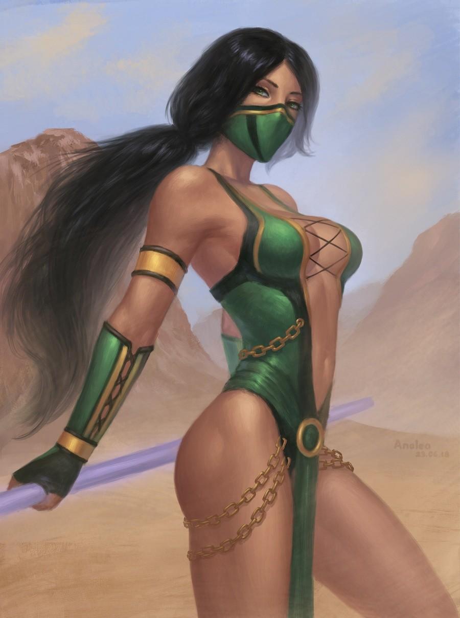 Artstation Jade Mortal Kombat 9 Anolea Nova