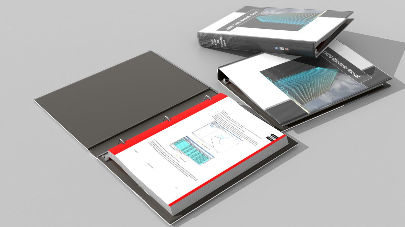 Pre-viz of potential technical document design for same client.