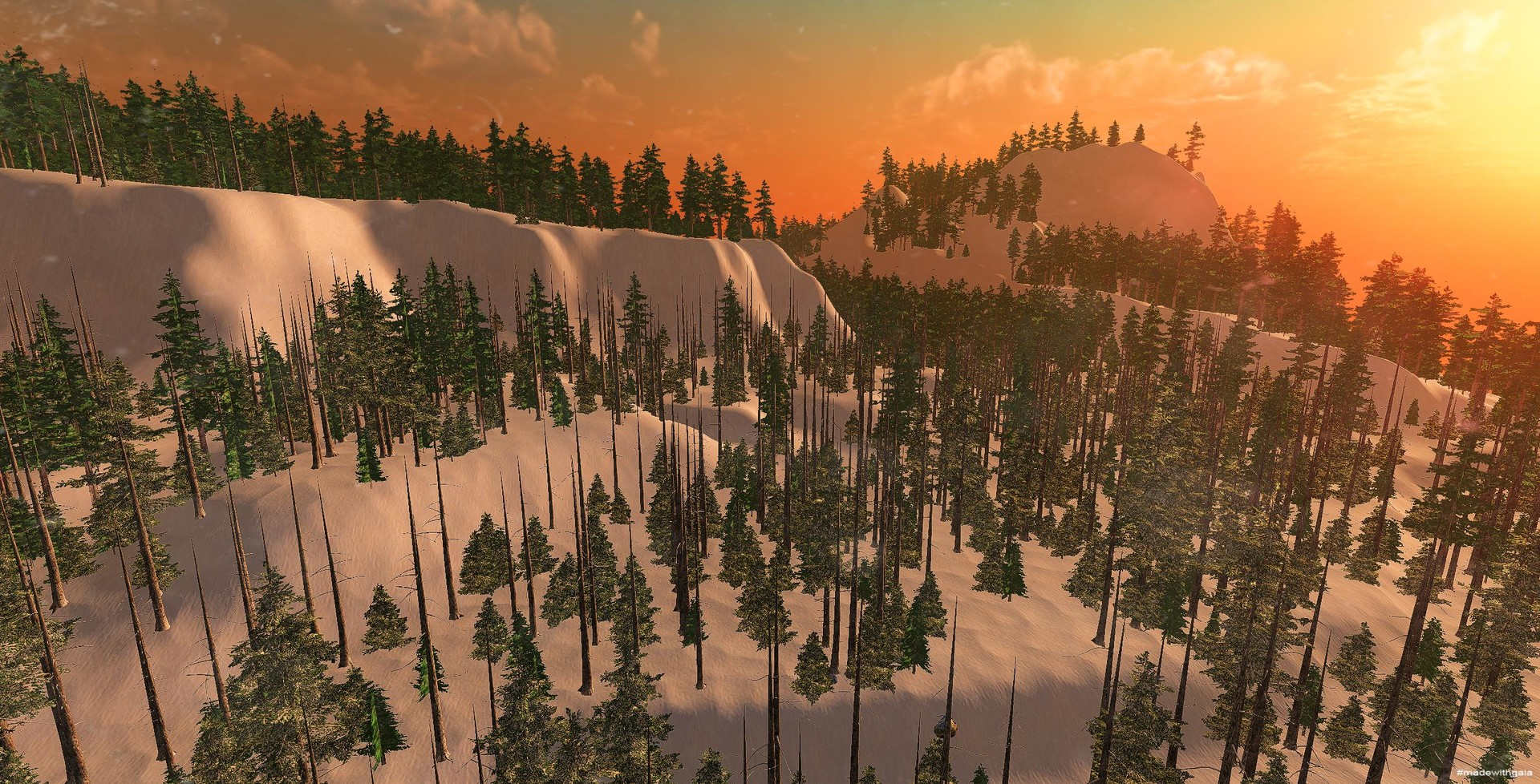 Later experiments with Unity environment, lighting and camera development for Arch-viz; much better camera and lighting, as well as snow.