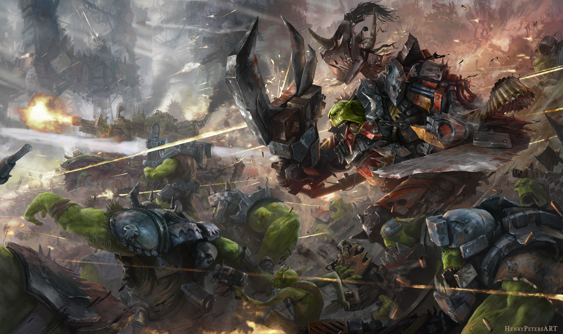Henry peters waaaaagh a raging ork horde
