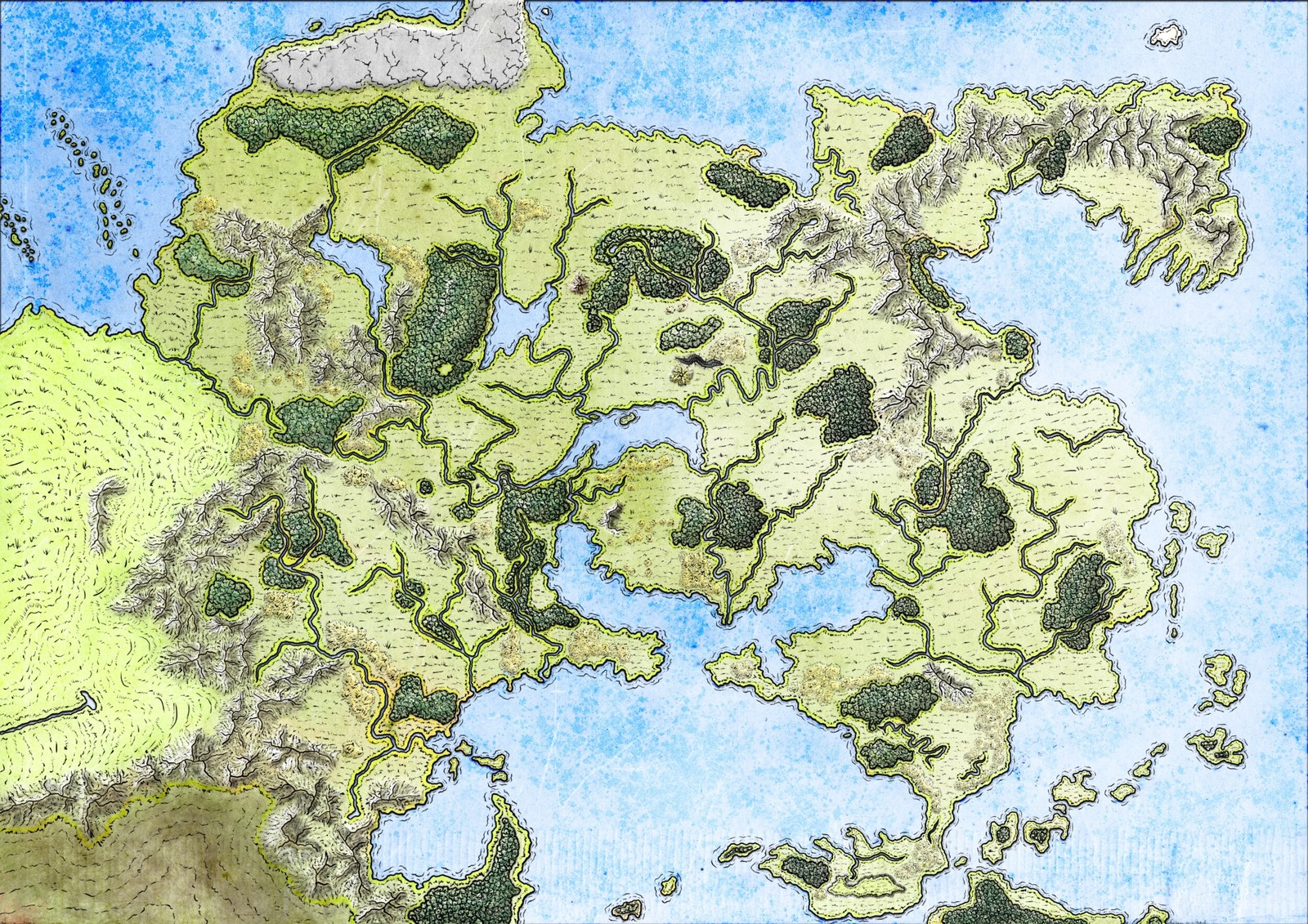 Fan map of Flaeness in Greyhawk Dungeons & Dragons Univers