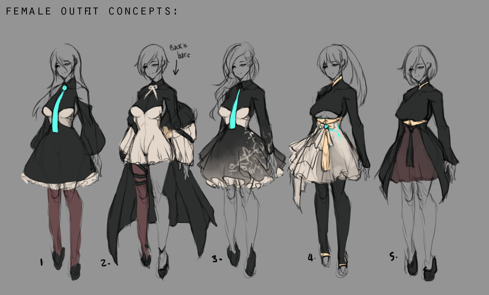 Male Outfit Concept Art