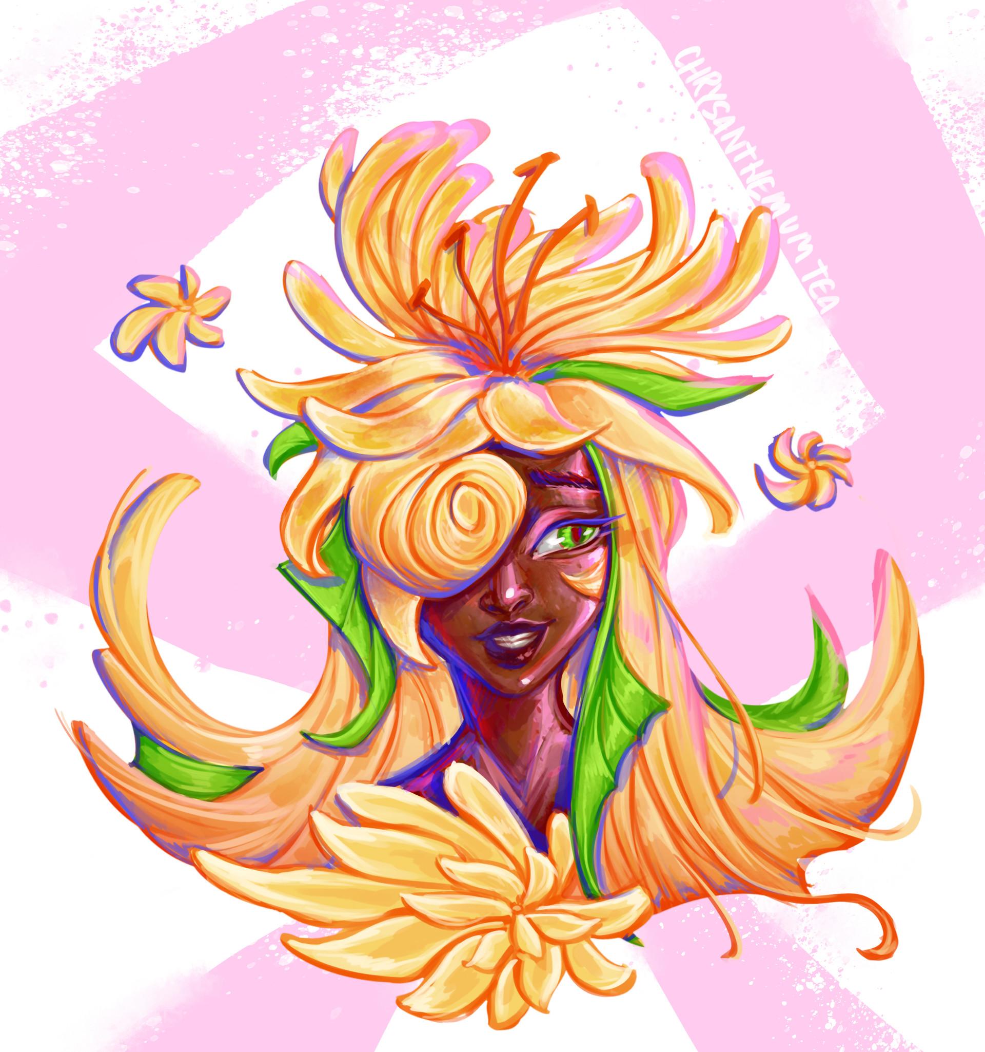 Devin yang as chrysanthemum