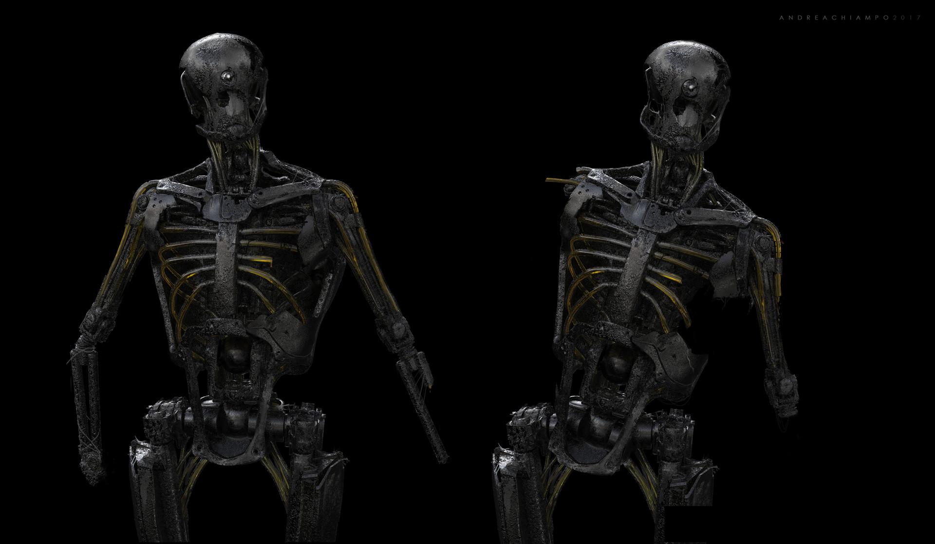 Andrea chiampo andrea chiampo concept design 9 zombie metal robot new
