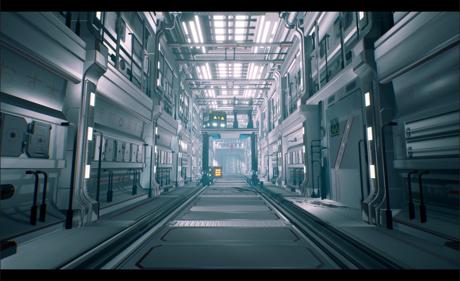 Sci-fi corridor - Wip