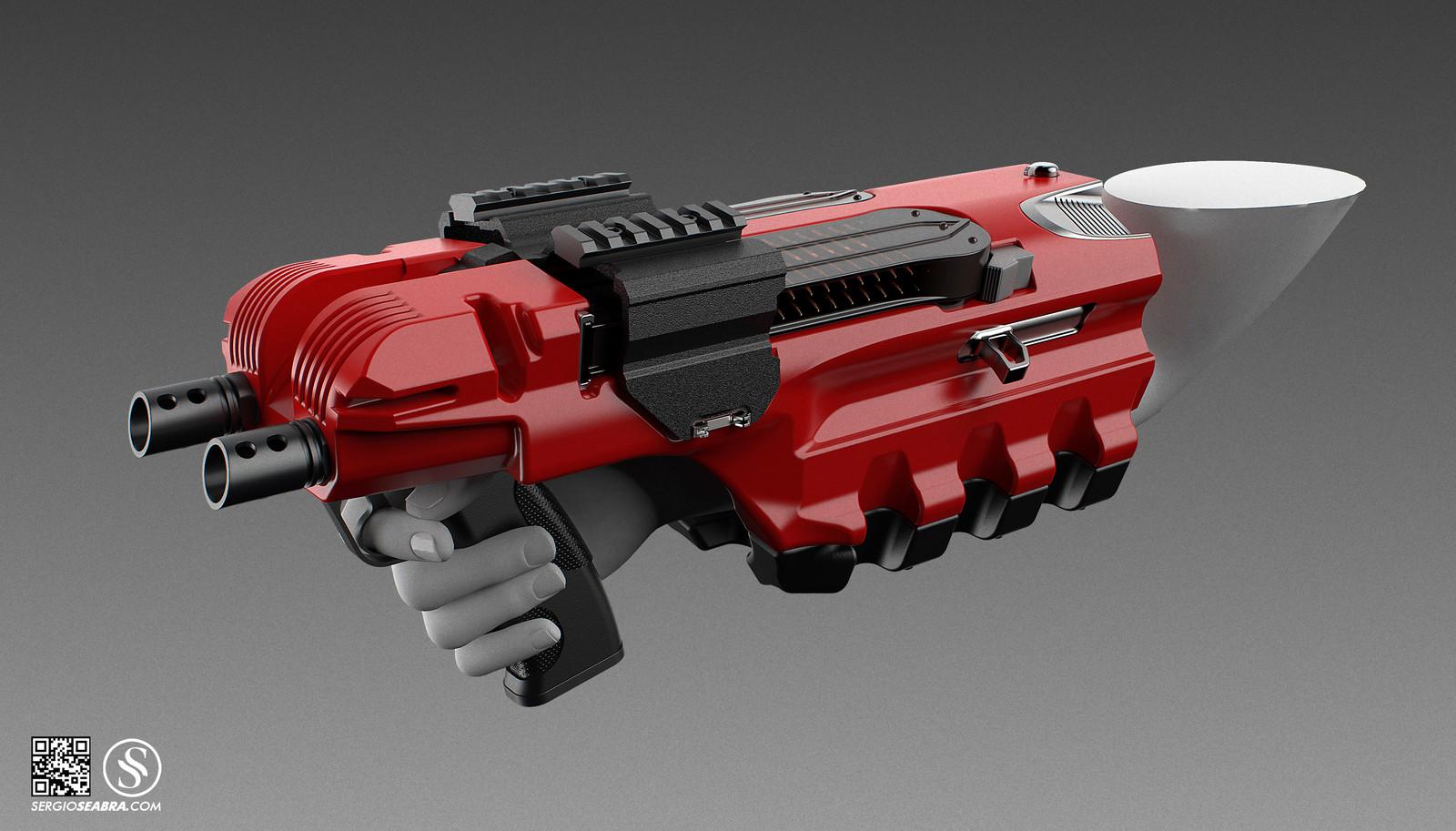 P90_Arm gun 2