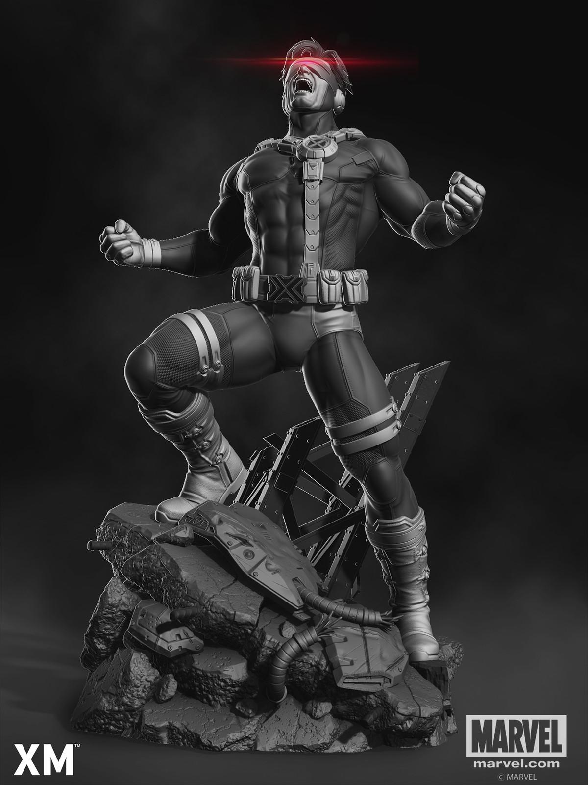 Cyclops Bust Two Render