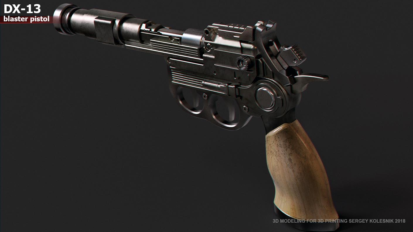 ArtStation - DX13 blaster pistol, Sergey Kolesnik