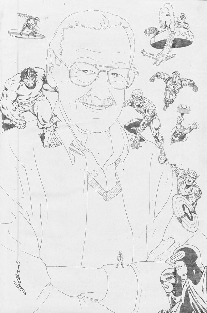 Stan Lee line art