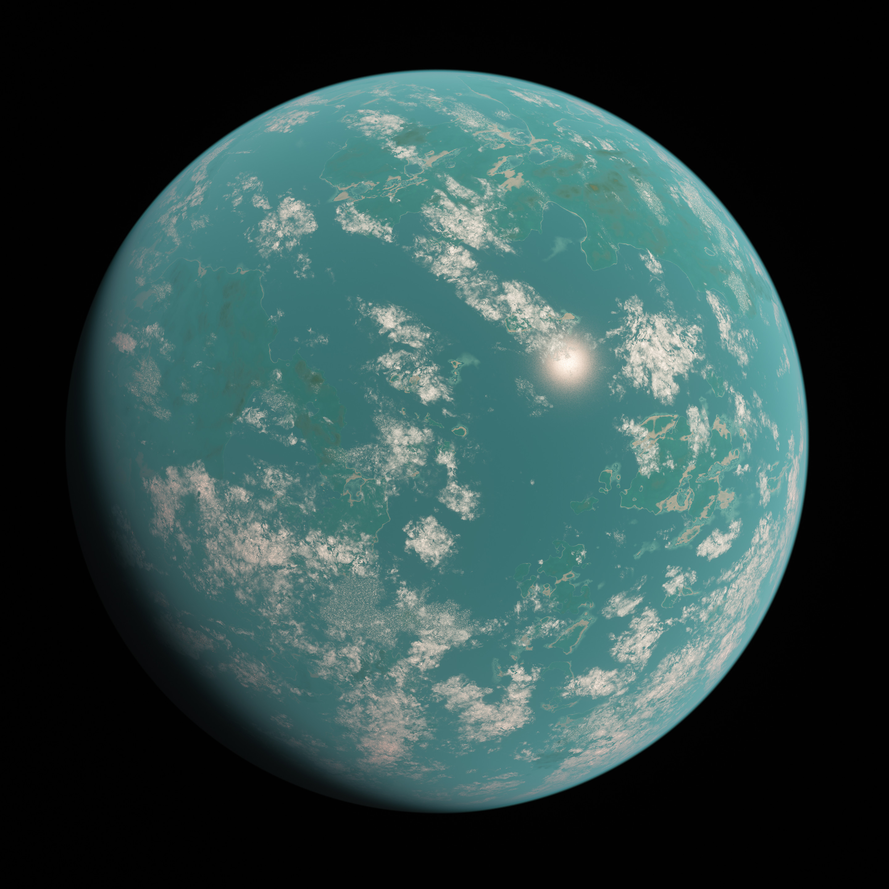 Full view of the super-earth.