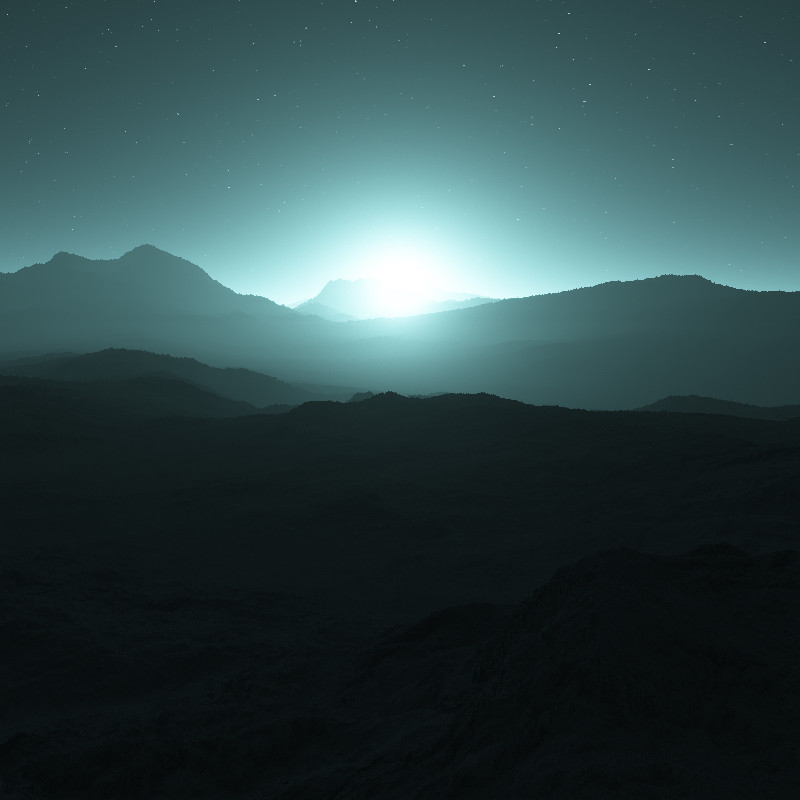 Degraded atmosphere around a bluer star