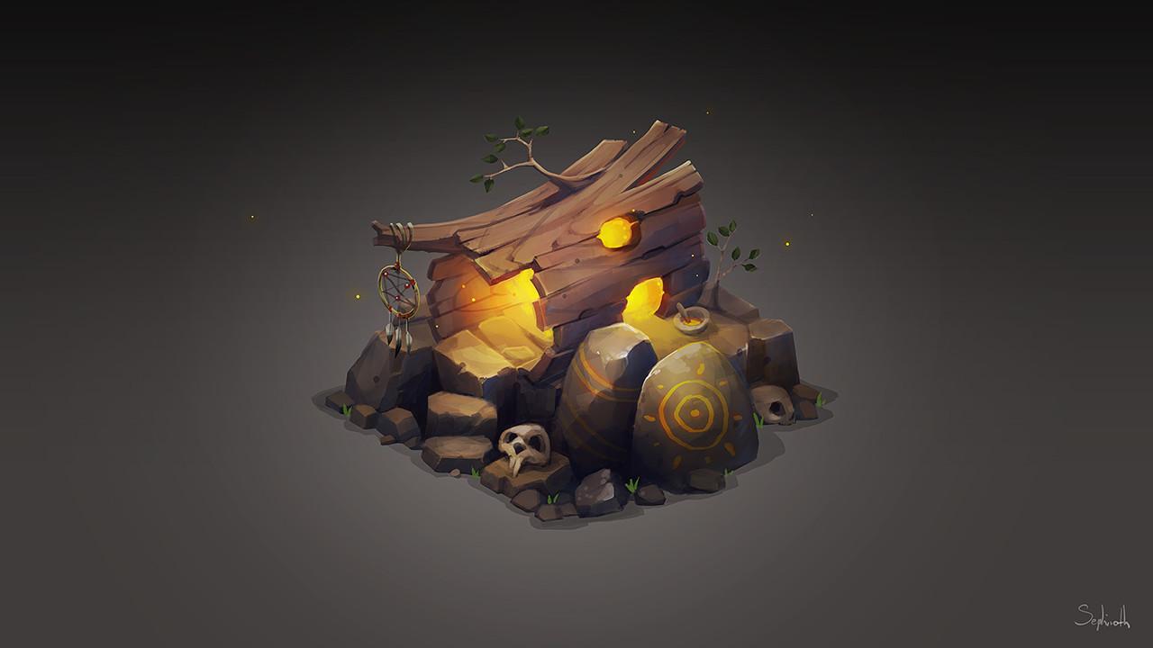 Isometric Stump House