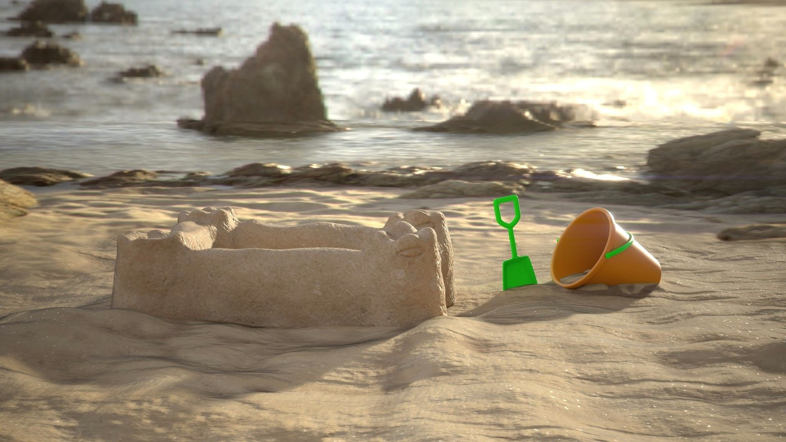 Sandcastle upon HDRI