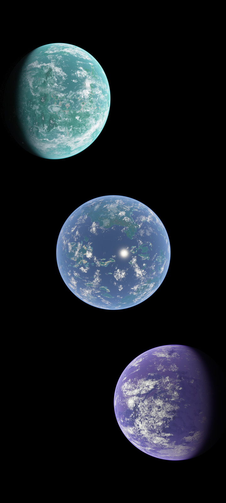 Study: Exoplanet color (Cornell Library art contest sub. 2)