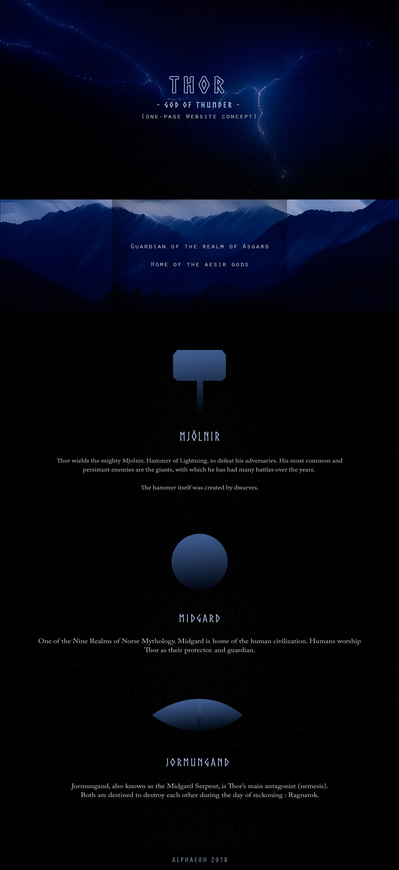 Alpha Eoh - Thor-Themed Website Concept