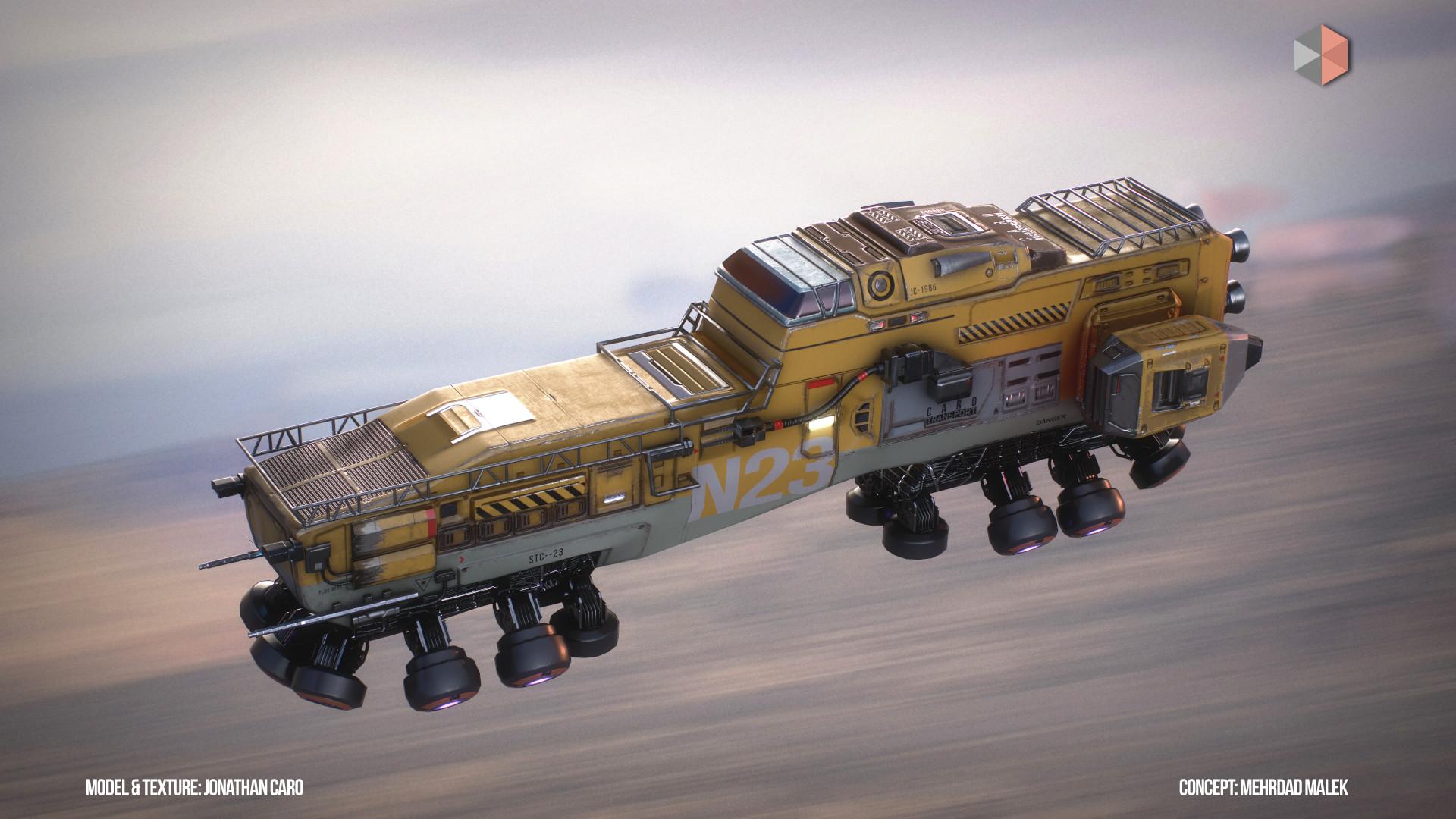 Jonathan caro jcspacetrain flying