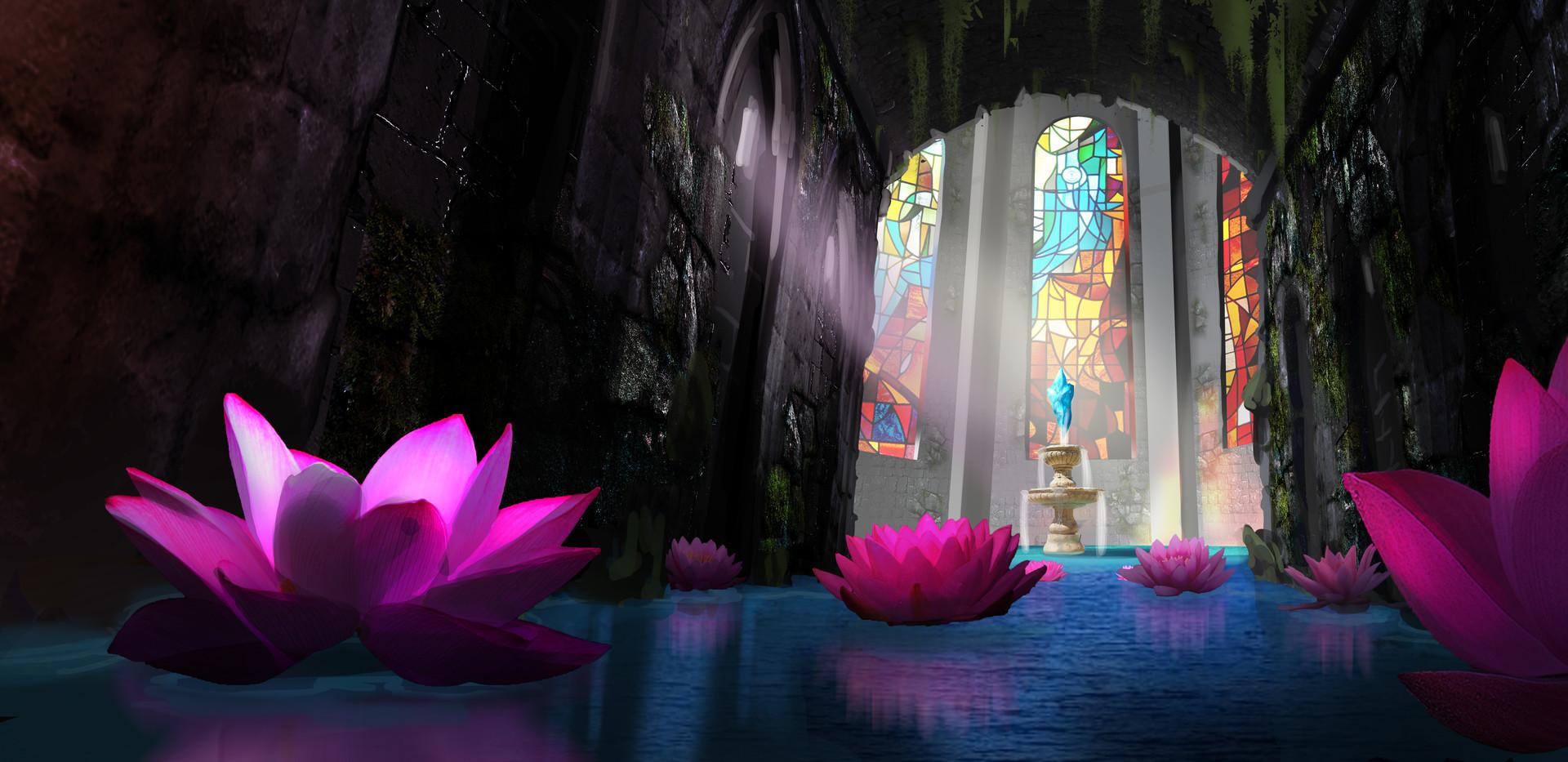 Pang Yi Hang Ruins Matte Painting