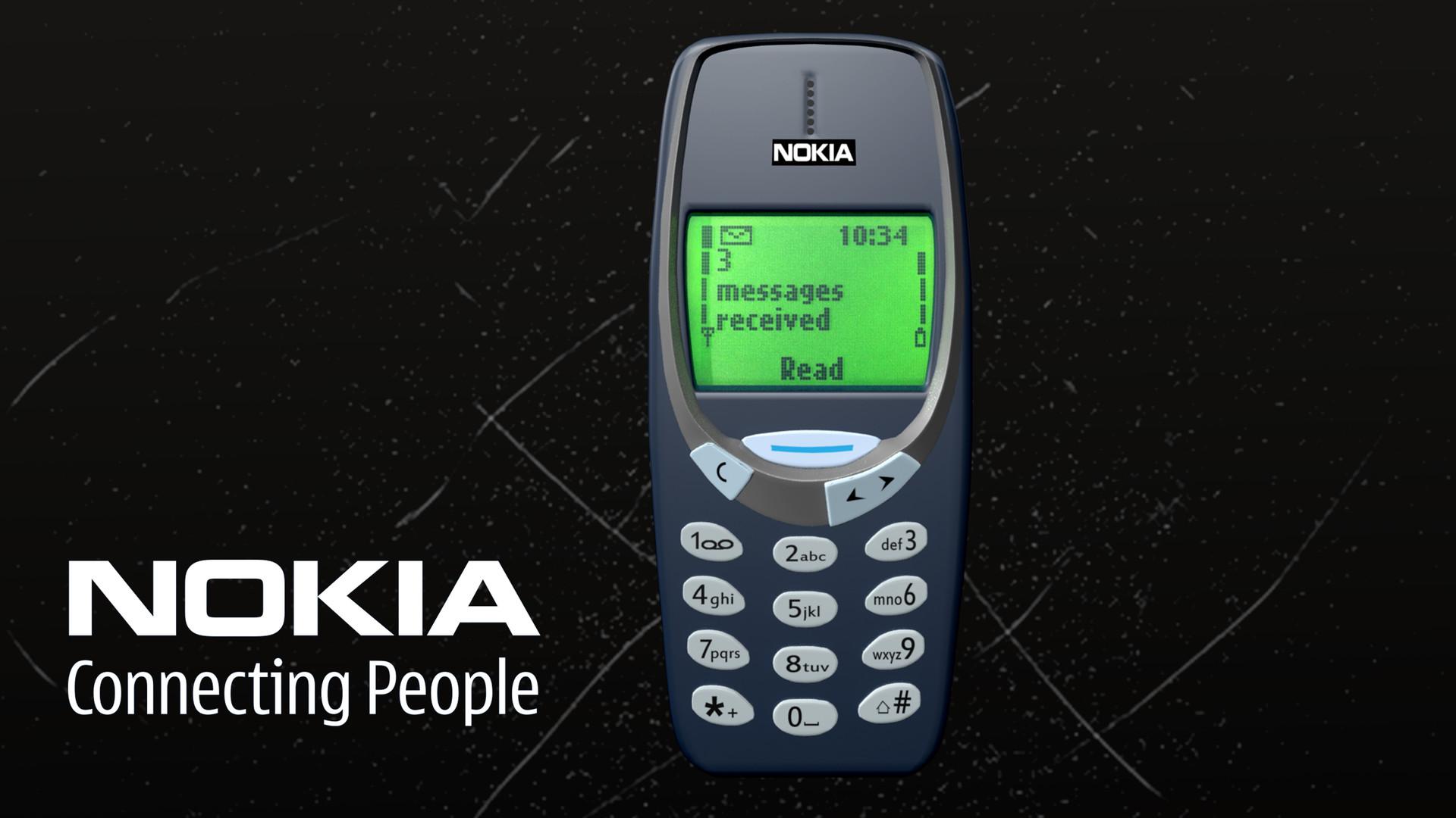 Artstation Nokia 3310 Model 3ds Max Subhayan Dey