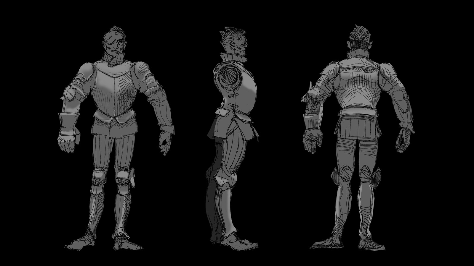 Sketches I used as guides for the modeling in Maya.
