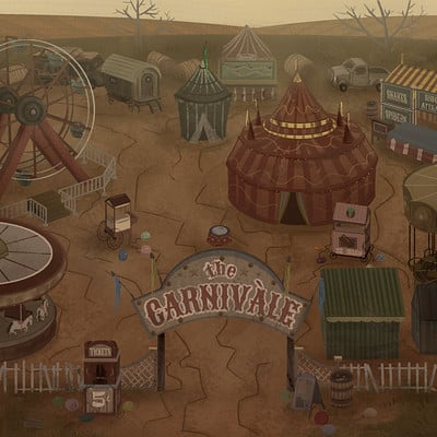 Desolate Dust Bowl Carnival