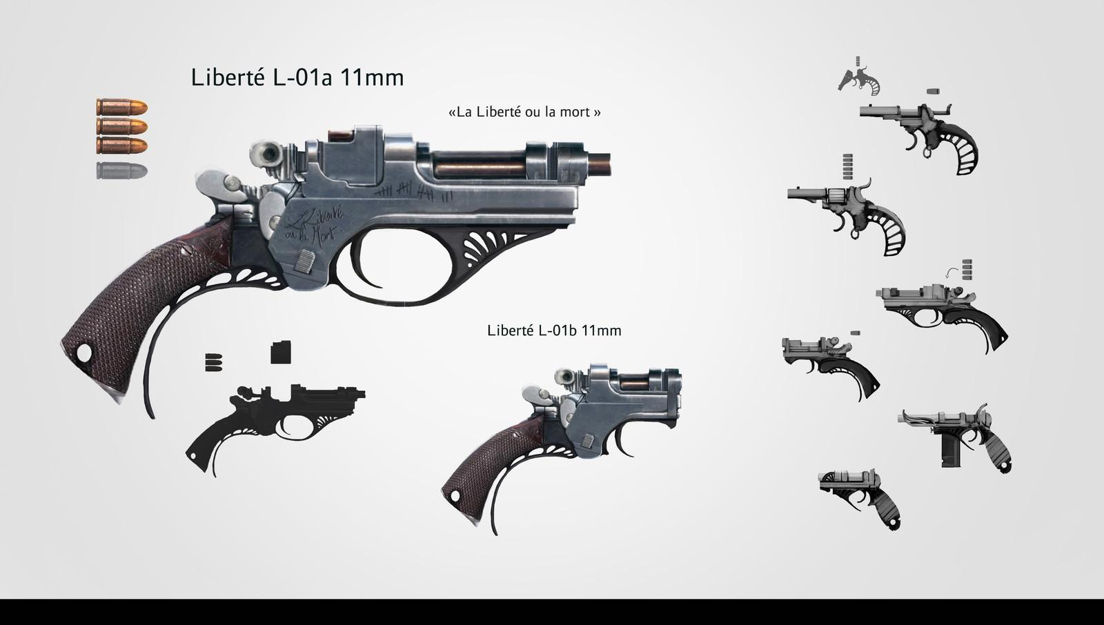 Handgun Liberté L-01a/b 11mm