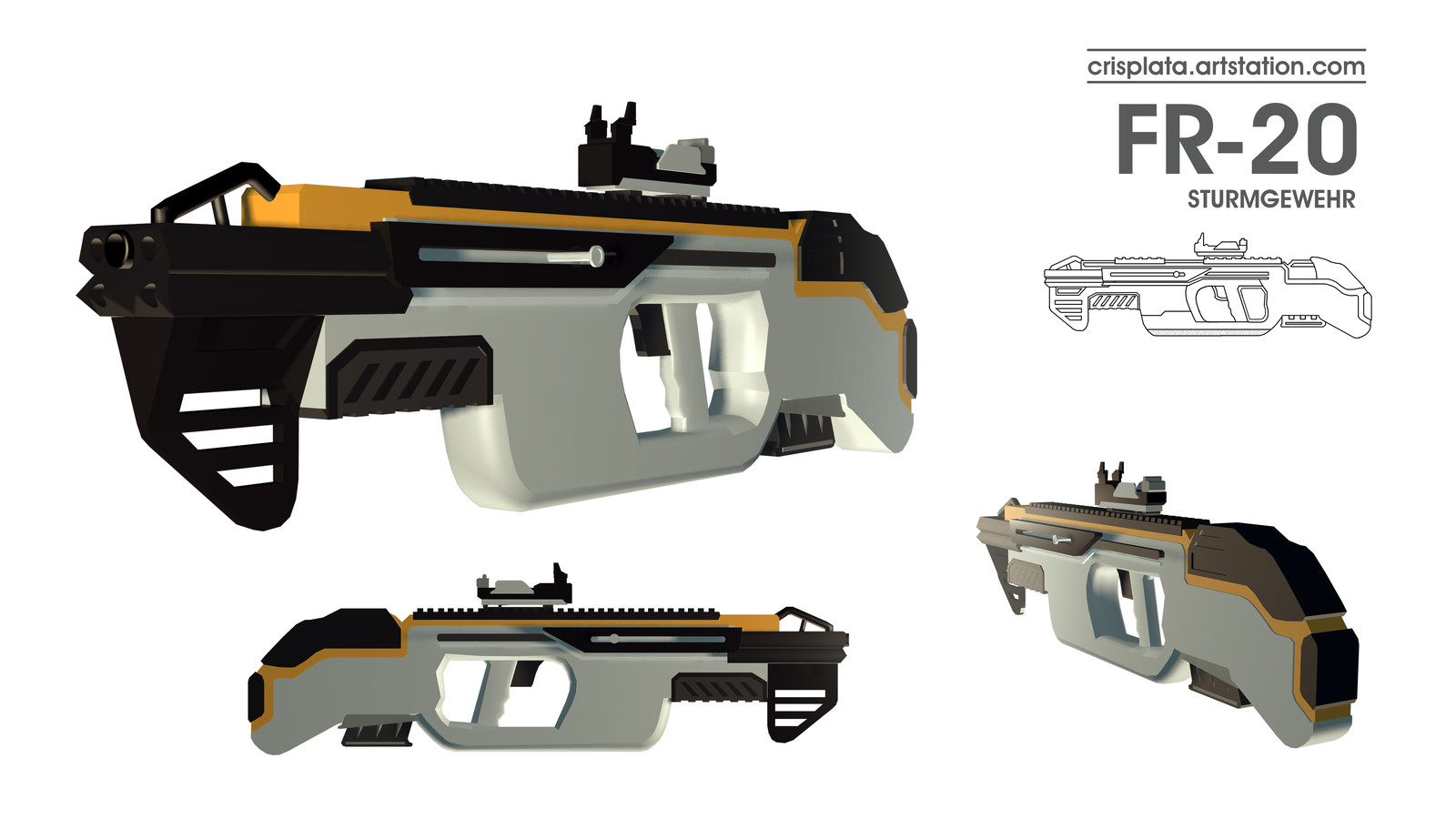FR-20 Assaullt Rifle Personal Project - Unnamed 2018