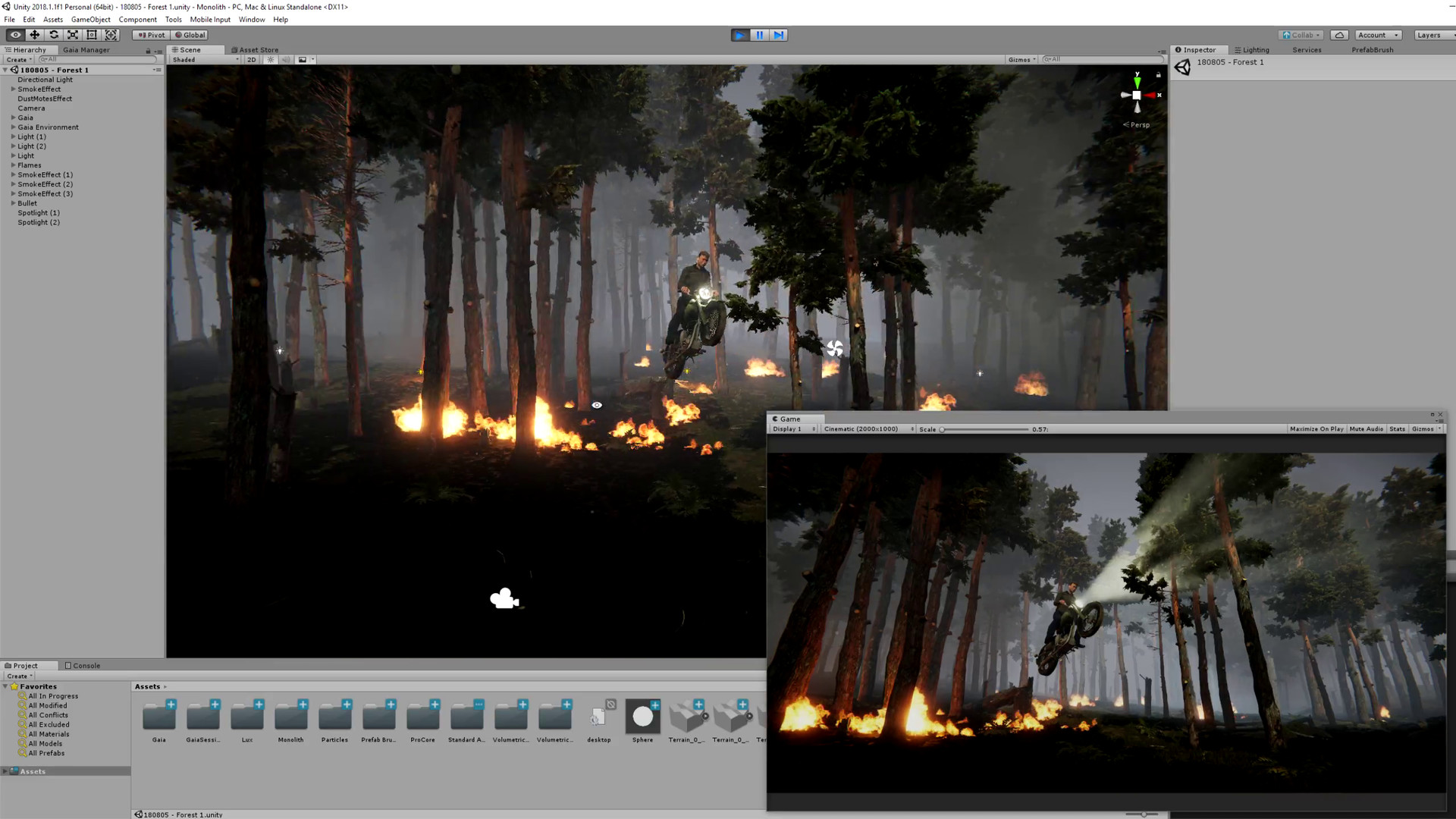 Bram sels jagsters scene burning forest bram sels unity