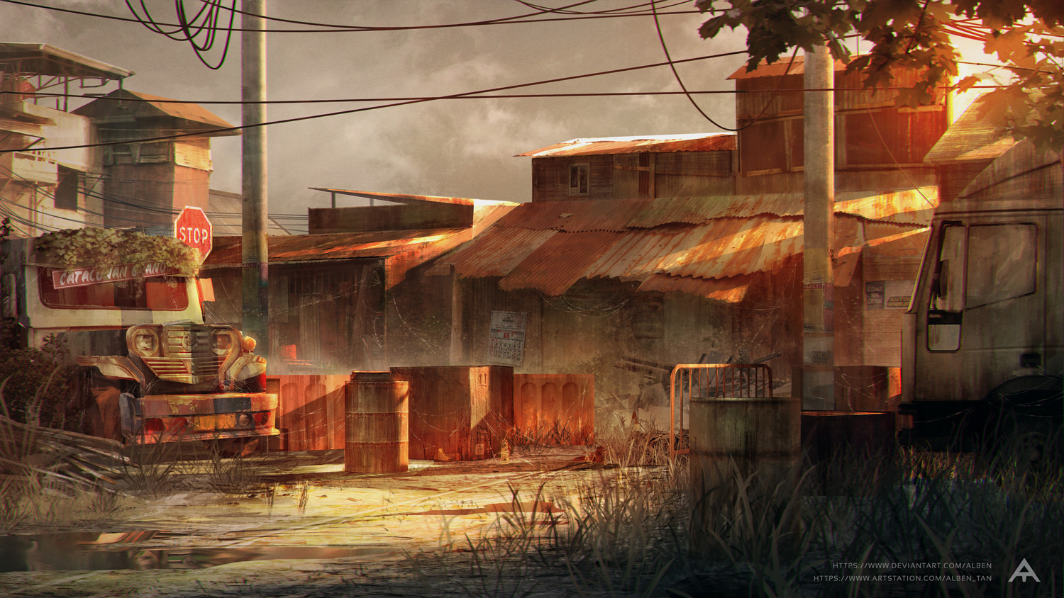 Abandoned Shanty Town - Concept Art
