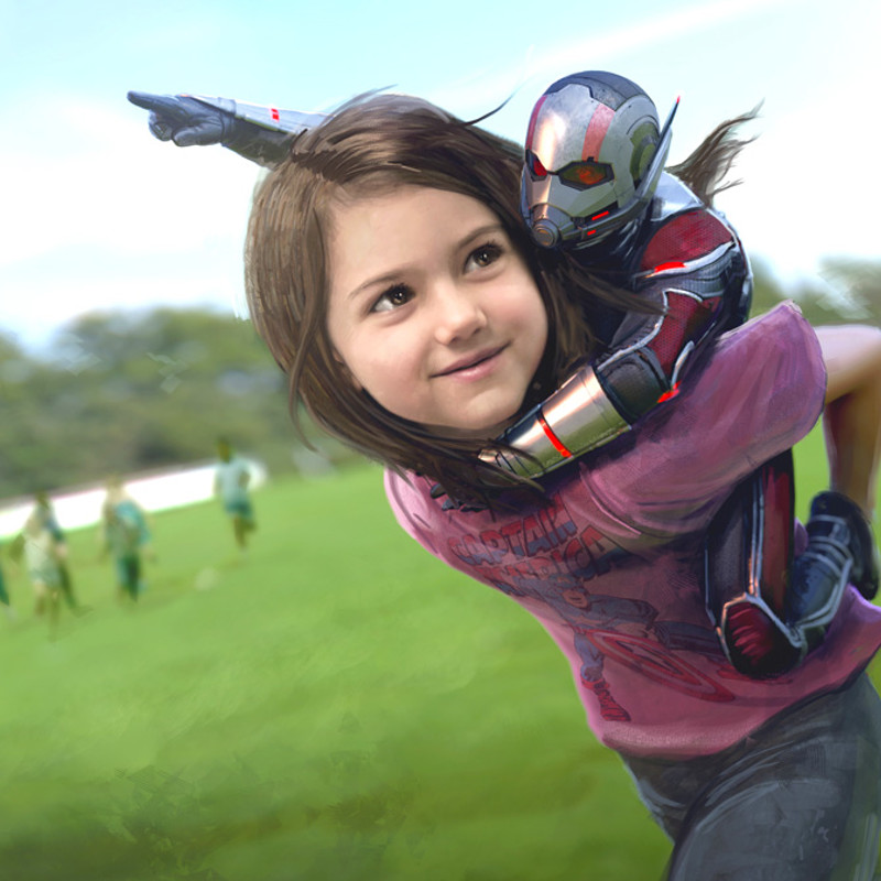 Ant-Man and the Wasp: Cassie and Scott Piggyback!