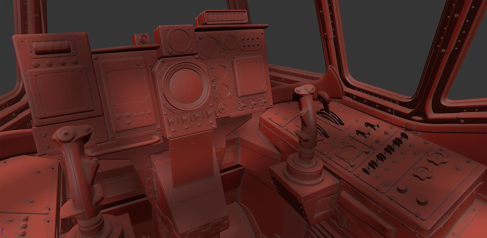Mech Cockpit Highpoly