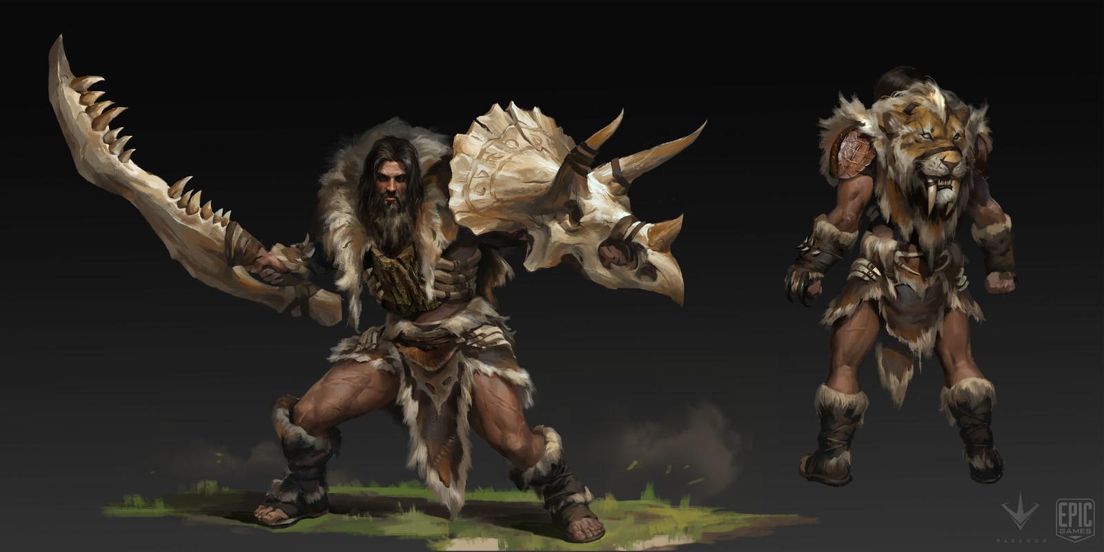 5.Greystone cave man original concept : Paul Richards
