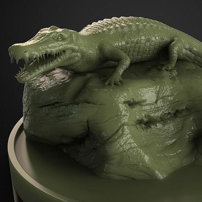 Sergio lobo crocodile pose1
