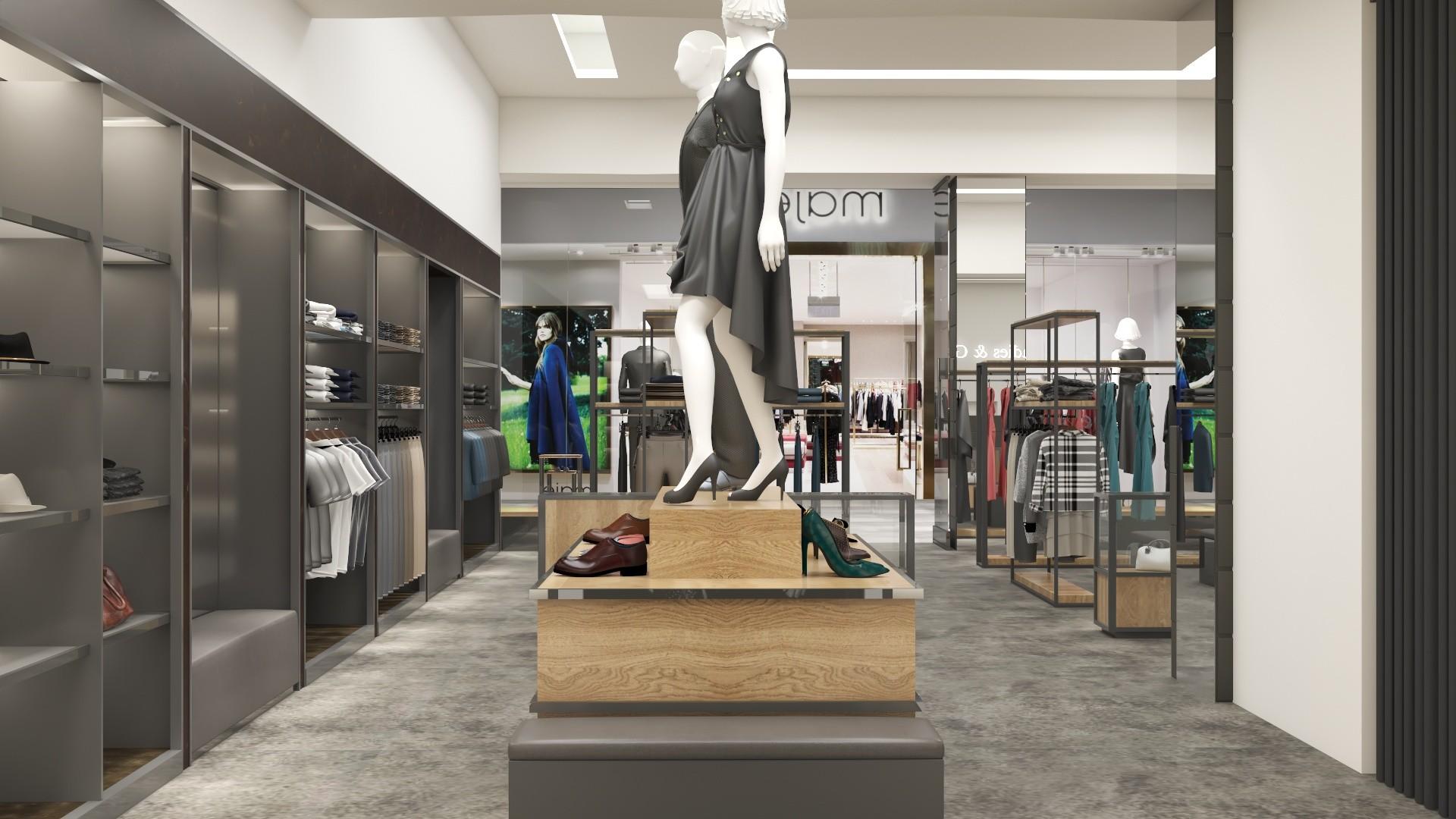 Artstation Clothes Store Shop Interior Design 3d Visualization Luis Evangelista