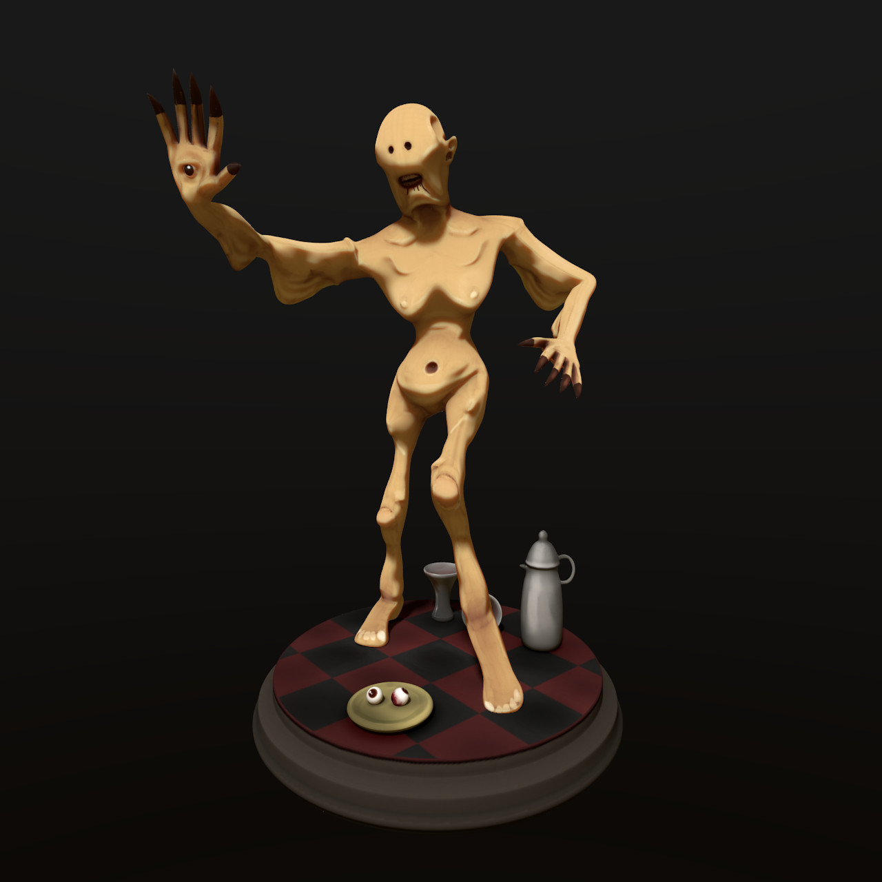 Stylized Pale Man