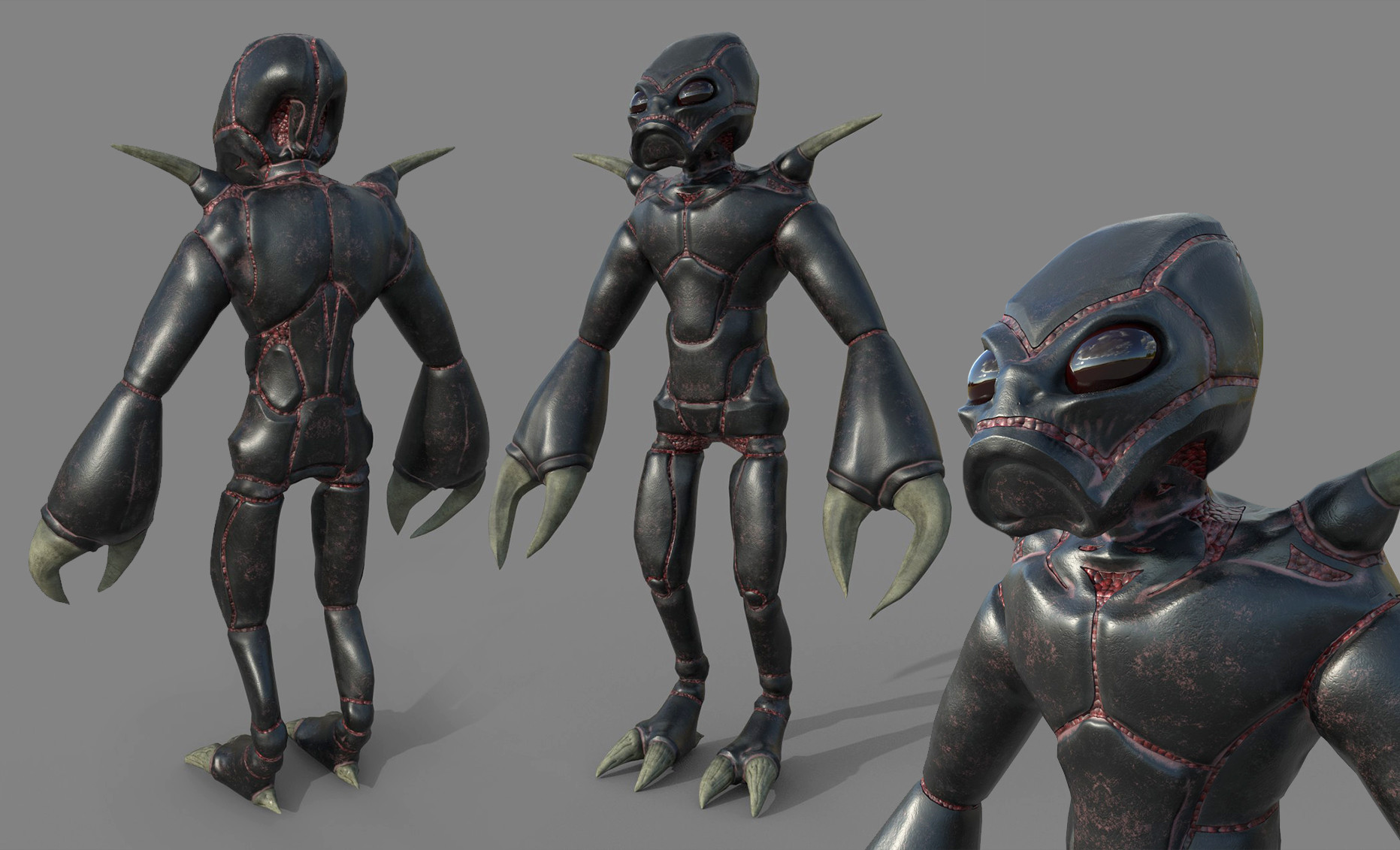 Artstation Chryssalid Alien From Xcom Universe Rigged And