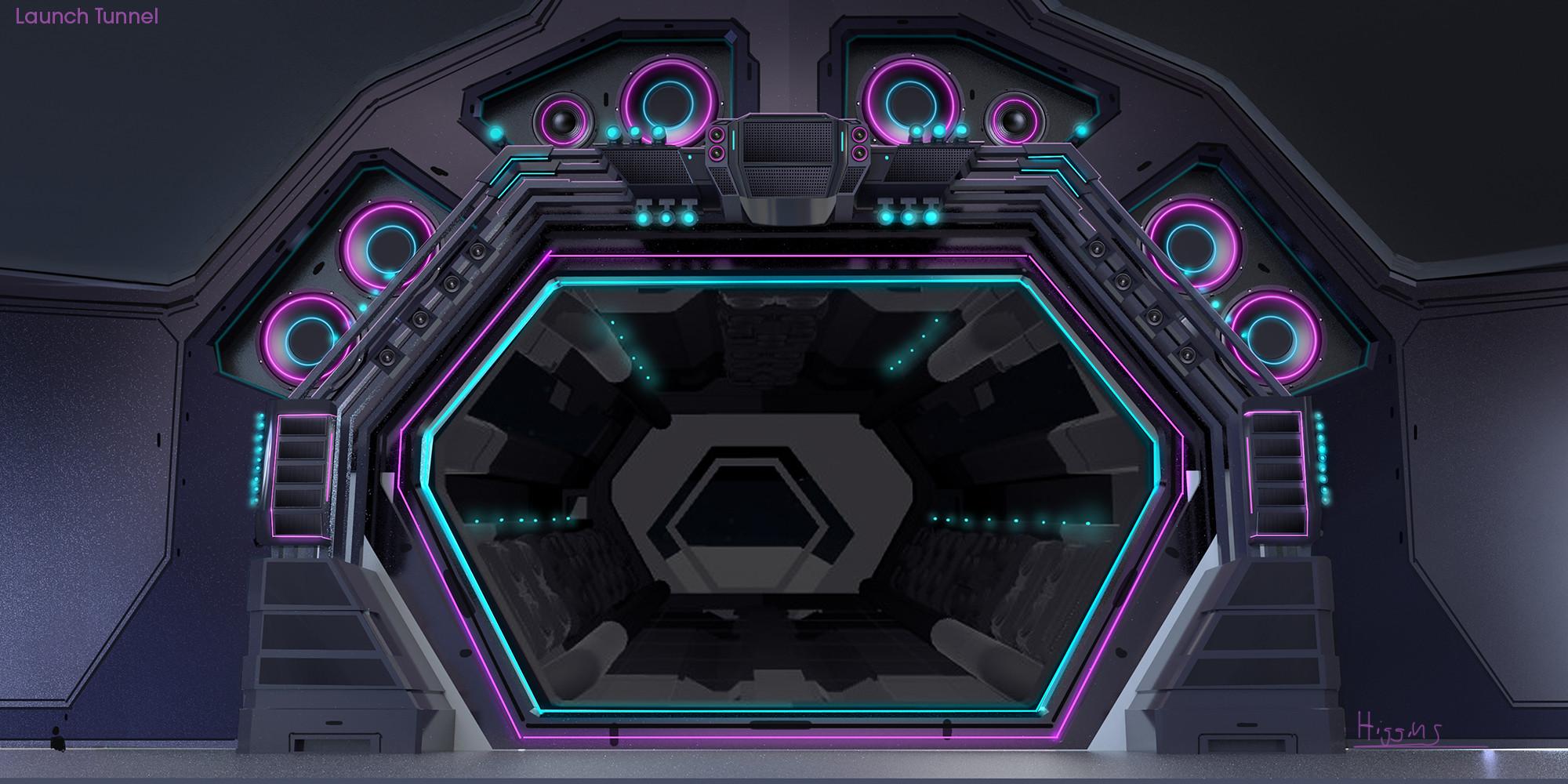 Hub launch tunnel