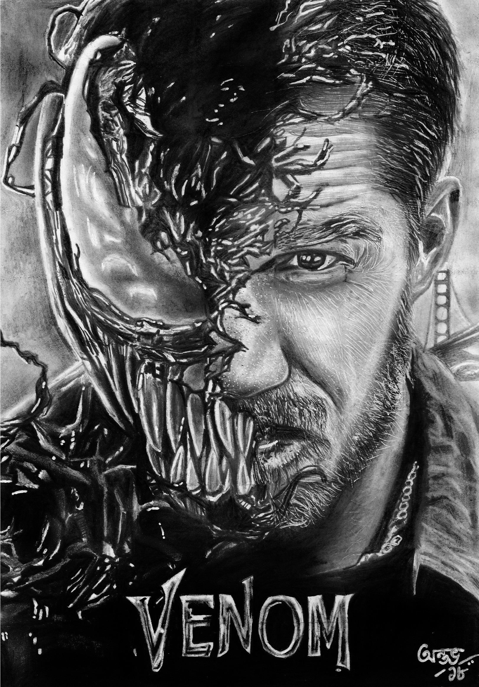 Artstation Venom Movie Poster Tom Hardy By Antav Antav Ganguly