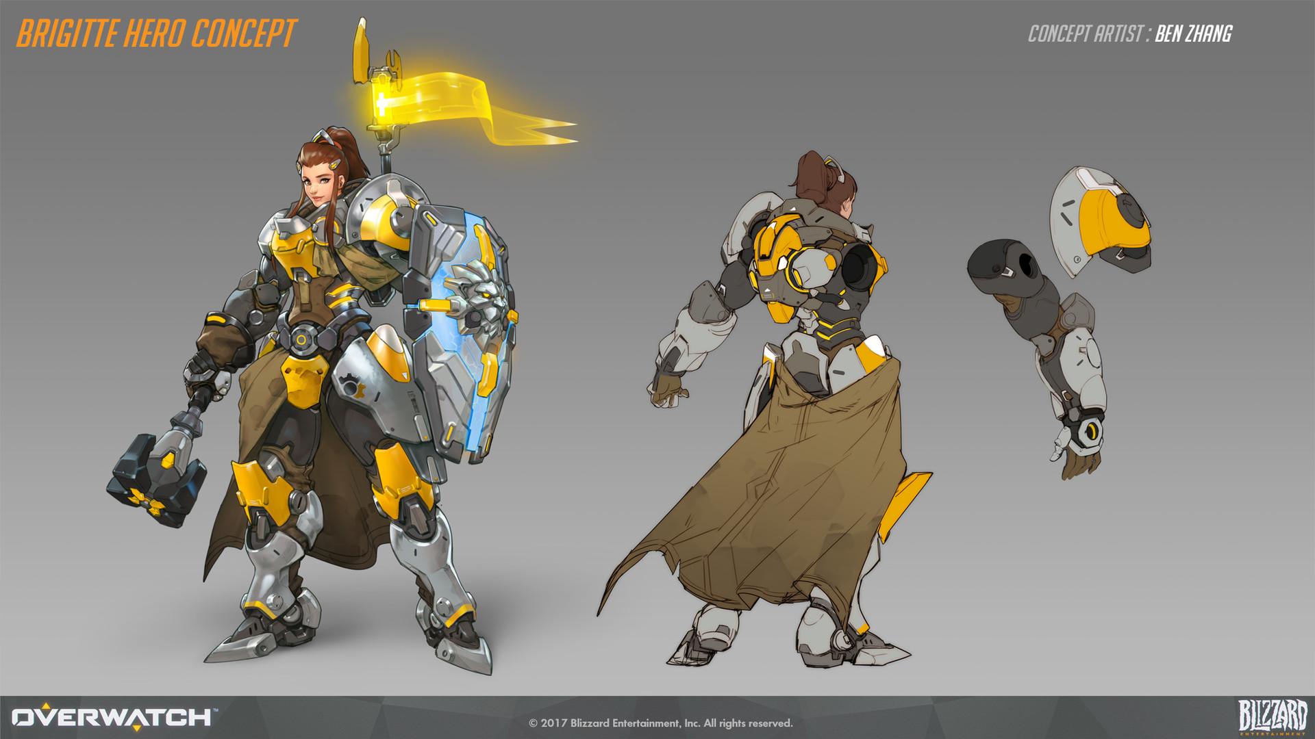 Base hero concept for Brigitte
