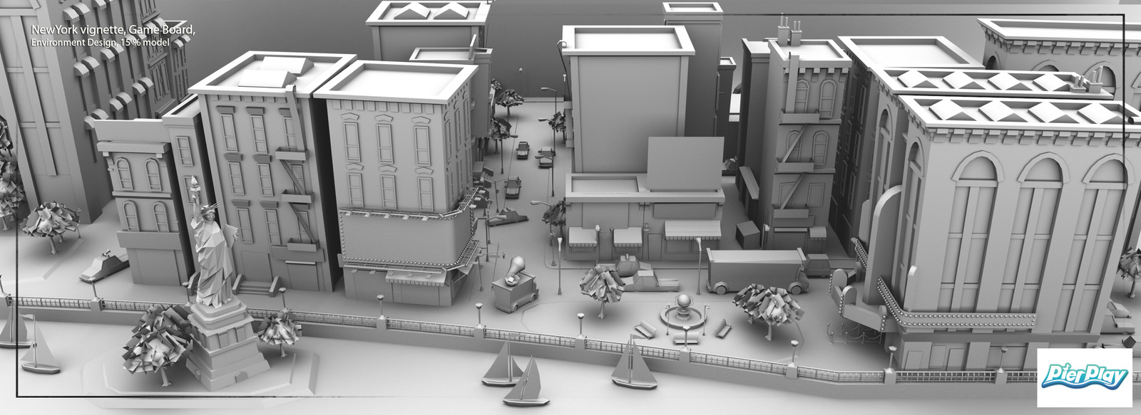 Design Environment, Modeled 15%, 75% by outsourced modelers
