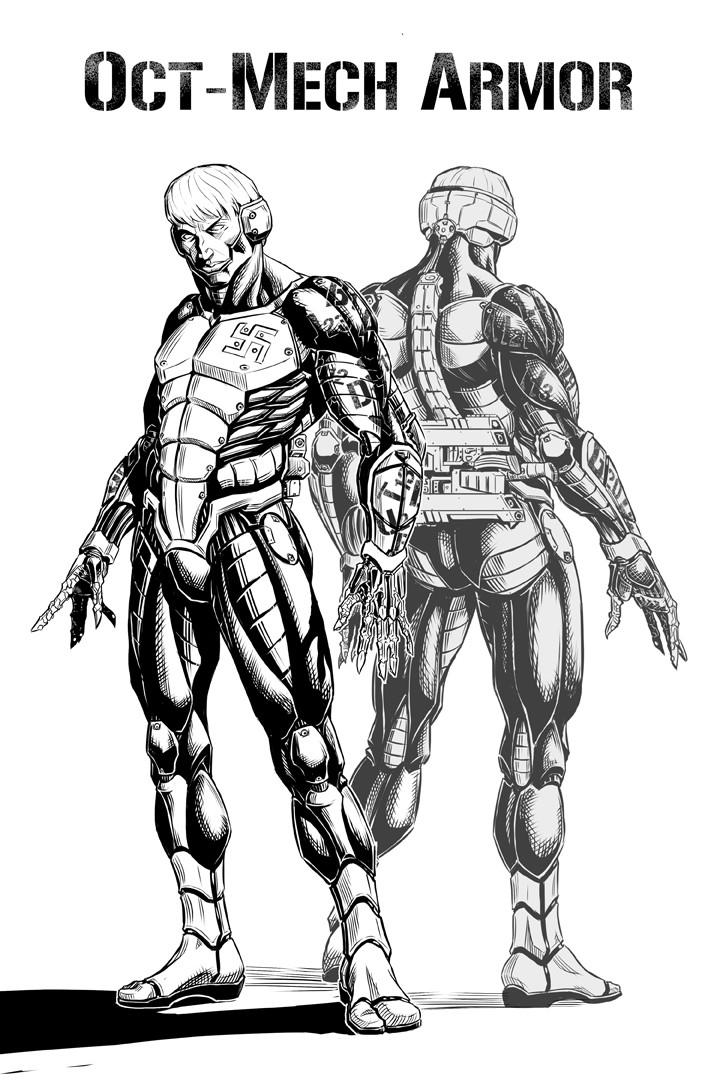 Oct-Mech Armor design