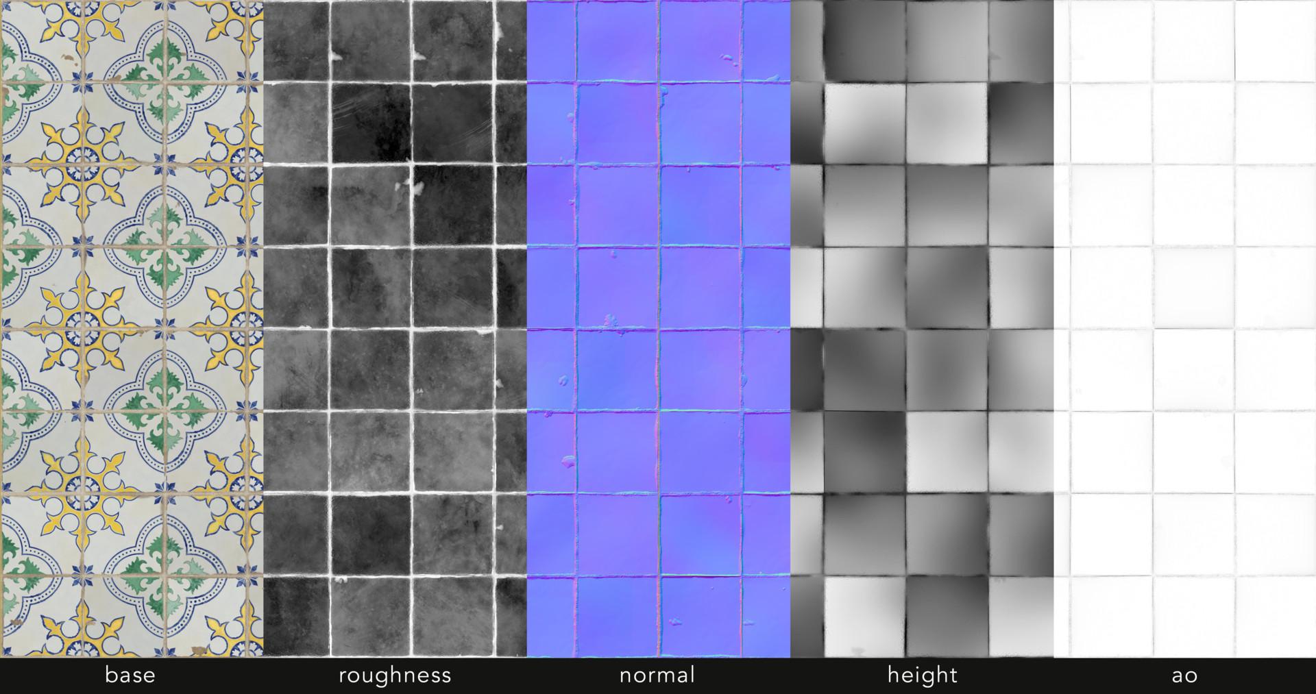 Alina godfrey azulejo tile textures2 psd