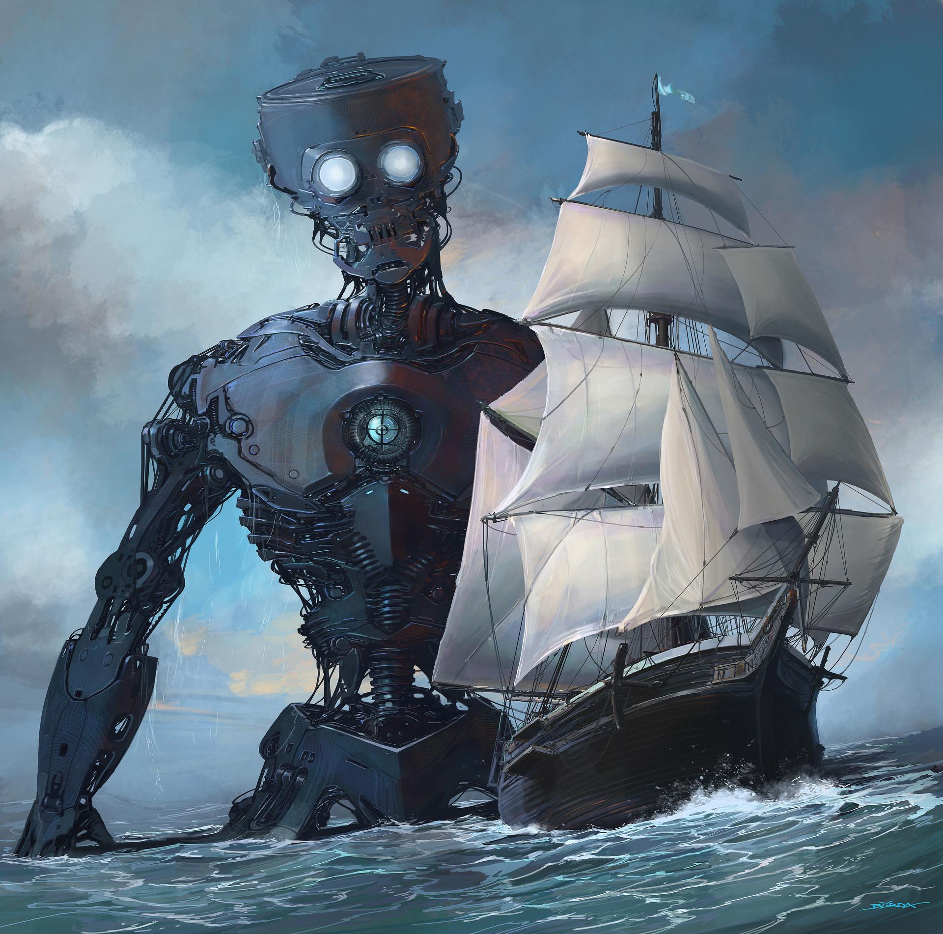 Alejandro burdisio barcos y robot x 5