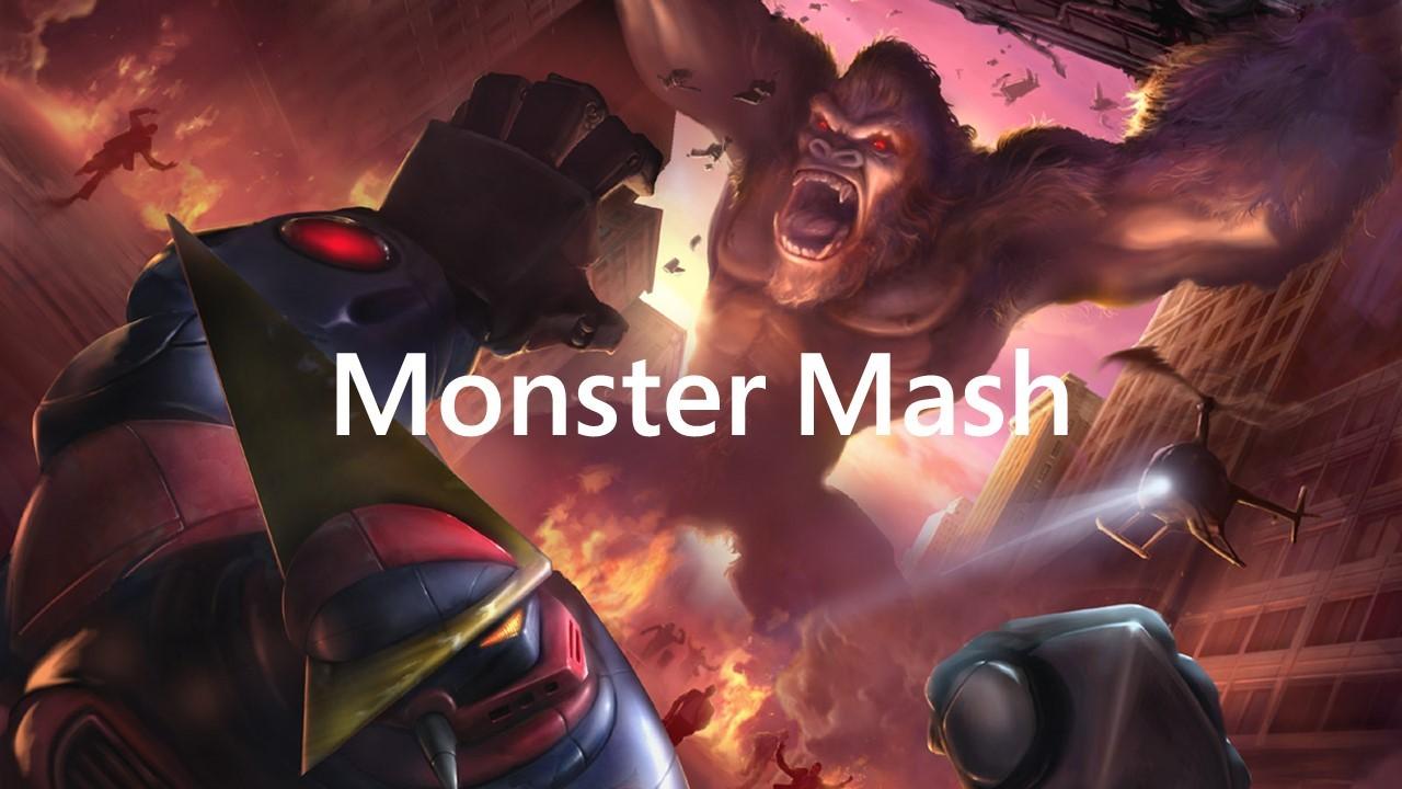 """Original Mood Boards for the """"Monster Mash"""" VR Game Concept."""