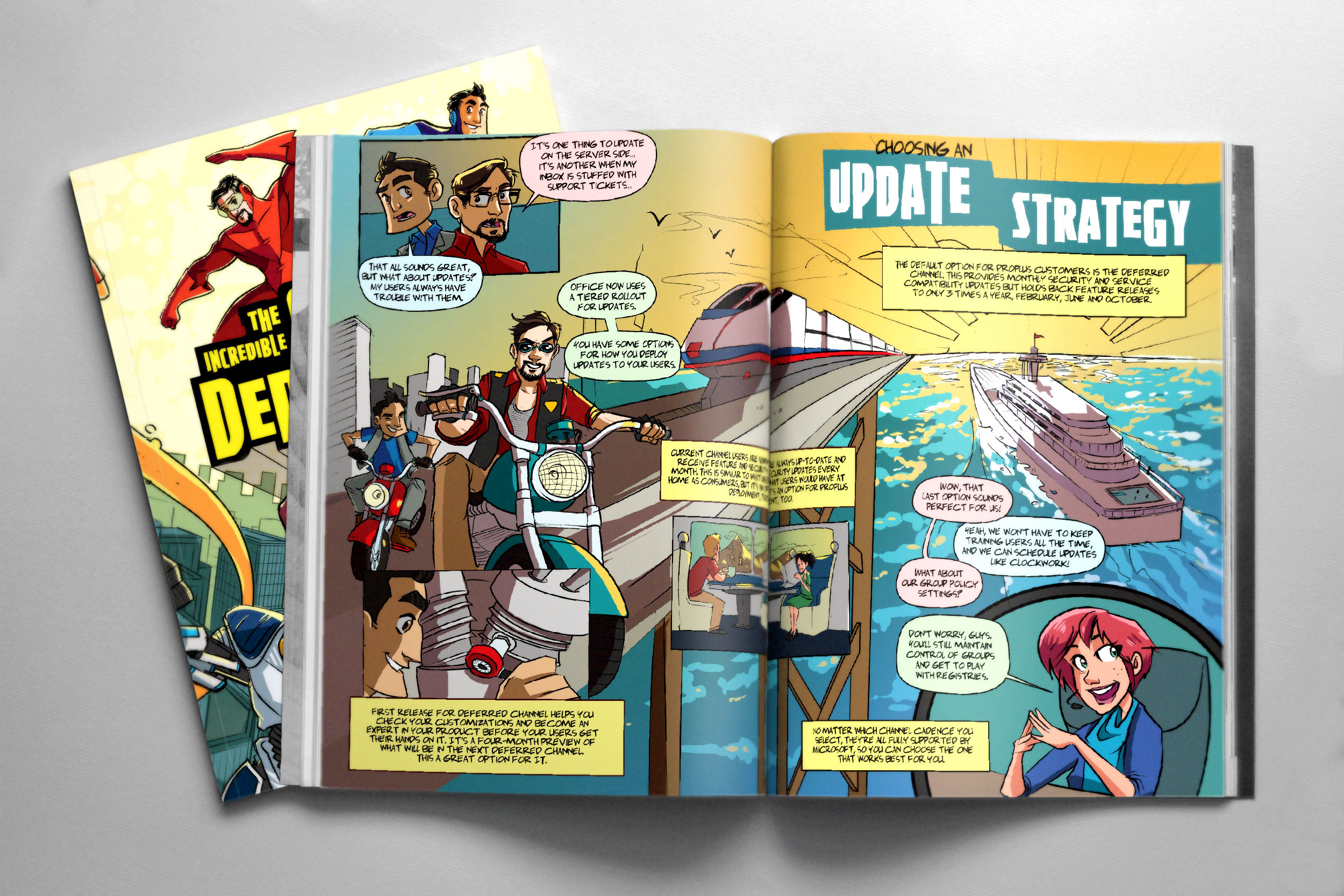 "Spread from #3, ""The Incredible Office Deployment"""
