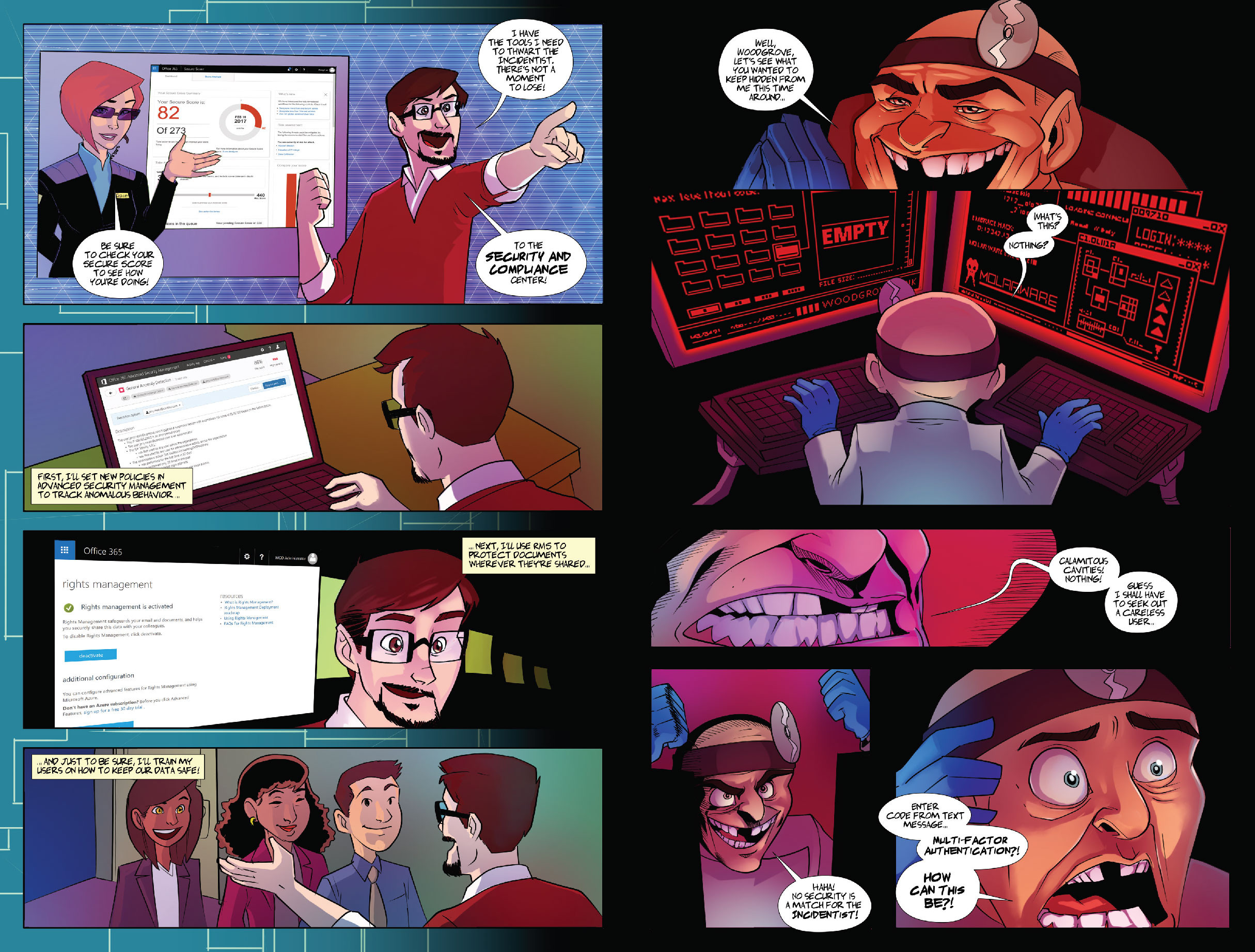 "Spread from #8 ""True Cyber Crime,"" featuring The Incidentist."